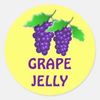 Jalea de uva o atasco o cotos que conserva la etiq