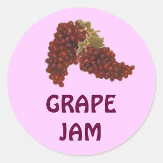 Jalea de uva roja o atasco o cotos que conserva la