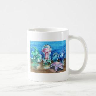 Jalea debajo de la taza de cristal