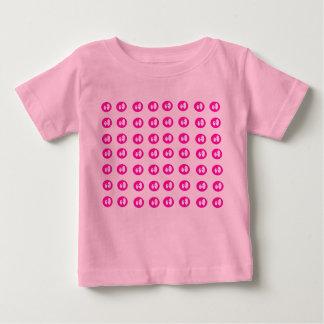 Jalea-gotas rosadas playera para bebé