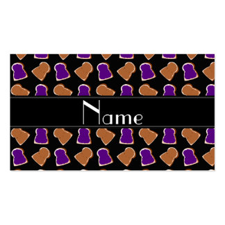 Jalea negra conocida personalizada de la tarjetas de visita