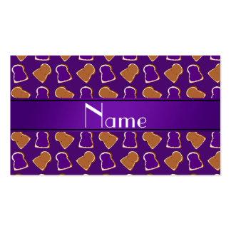 Jalea púrpura conocida personalizada de la tarjeta personal
