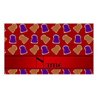 Jalea roja conocida personalizada de la tarjeta de negocio
