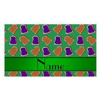 Jalea verde conocida personalizada de la tarjetas personales