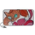 Jaléo rojo del arco del gatito notebook altavoces