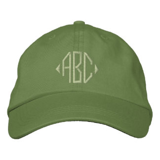Jalepeno and Cactus Green Monogram Embroidered Baseball Hat