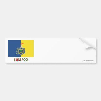 Jalisco Flag Car Bumper Sticker