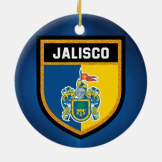 Jalisco Flag Ceramic Ornament