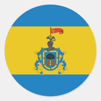 Jalisco(New Galicia), Mauritius flag Classic Round Sticker