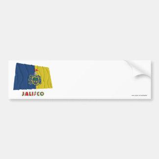 Jalisco Waving Flag Car Bumper Sticker