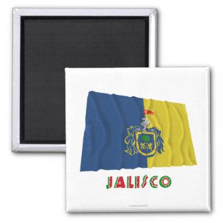 Jalisco Waving Flag Refrigerator Magnet