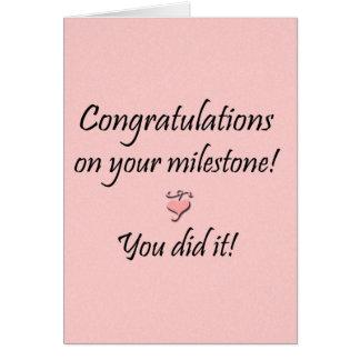 Jalón (de ambos) tarjeta de felicitación