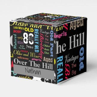 Jalón del feliz cumpleaños el | de la edad el | de cajas para regalos de boda