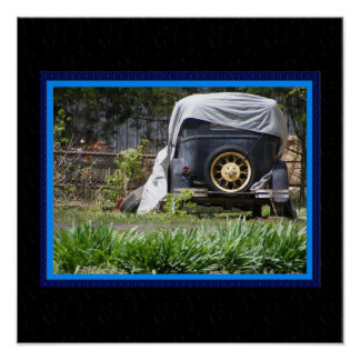 Jalopy Poster with Faux Matting