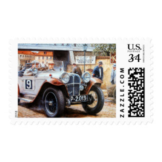 Jalopy racing car painting postage