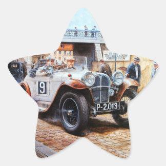 Jalopy racingcar painting star sticker