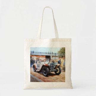 Jalopy racingcar painting tote bag