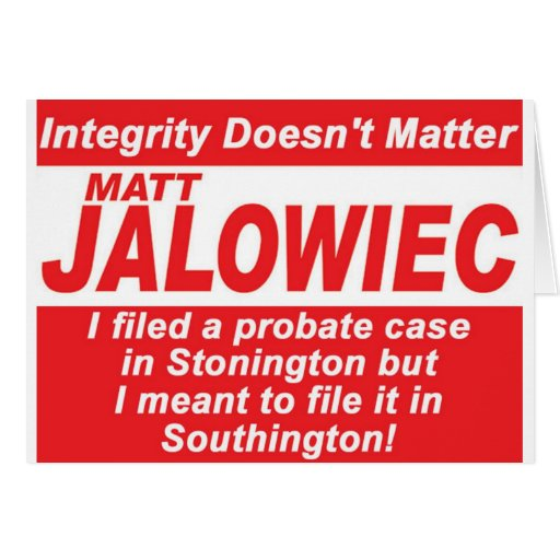 Jalowiec 2010 Campaign Sign Audit Cards