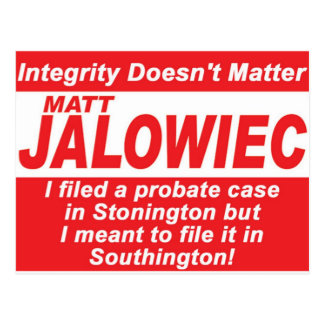 Jalowiec 2010 Campaign Sign Audit Postcard