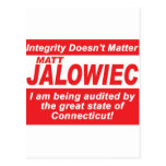 Jalowiec 2010 Campaign Sign southington Post Card
