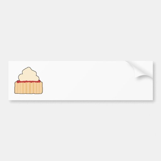 Jam and Cream Scone. Bumper Stickers
