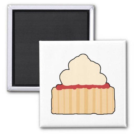 Jam and Cream Scone. Fridge Magnets
