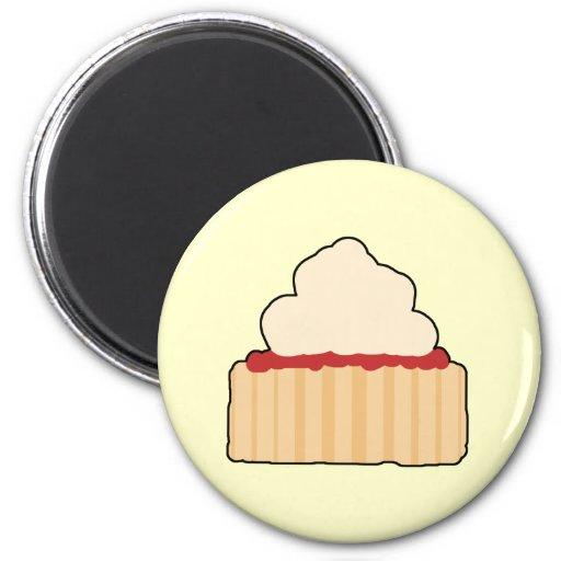Jam and Cream Scone. Fridge Magnet