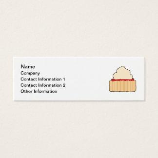 Jam and Cream Scone. Mini Business Card