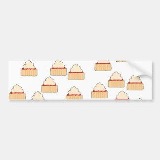 Jam and Cream Scone pattern. Car Bumper Sticker