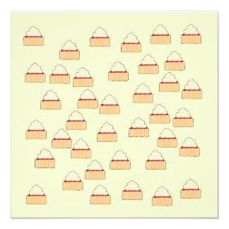 Jam and Cream Scone pattern. Card