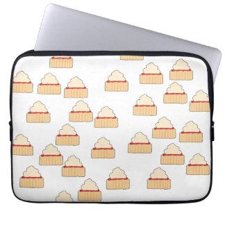 Jam and Cream Scone pattern. Laptop Sleeve