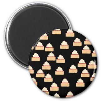 Jam and Cream Scone pattern Refrigerator Magnet