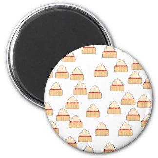 Jam and Cream Scone pattern Fridge Magnet