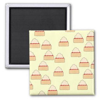Jam and Cream Scone pattern Fridge Magnets