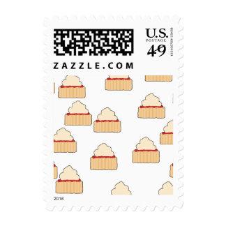 Jam and Cream Scone pattern. Stamp