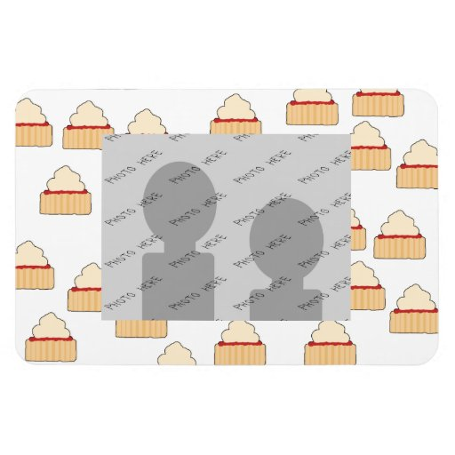 Jam and Cream Scone pattern. Rectangle Magnet