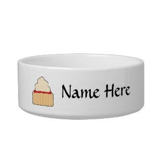 Jam and Cream Scone Cat Food Bowl