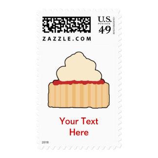 Jam and Cream Scone. Postage Stamp