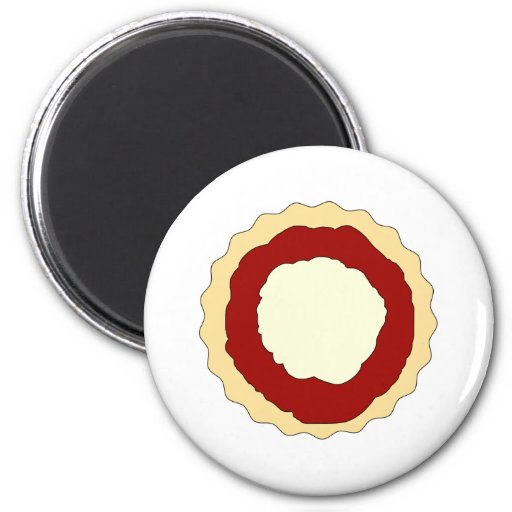 Jam and Whipped Cream Scone. Refrigerator Magnets