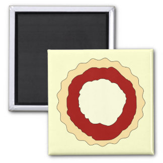 Jam and Whipped Cream Scone. 2 Inch Square Magnet