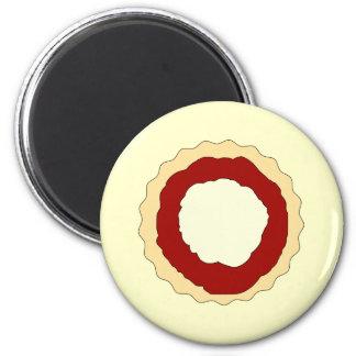 Jam and Whipped Cream Scone Fridge Magnet