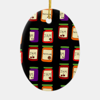 jam ceramic ornament