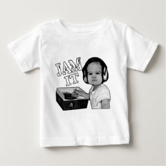 """""""Jam It"""" Baby DJ spins on a Fisher Price turntable Baby T-Shirt"""
