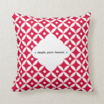 Jam Jar - Simple. Pure. Honest. Pillow. Throw Pillow