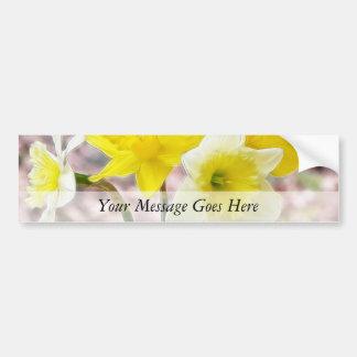 Jam Jar Vase Full Of Daffodils Bumper Sticker