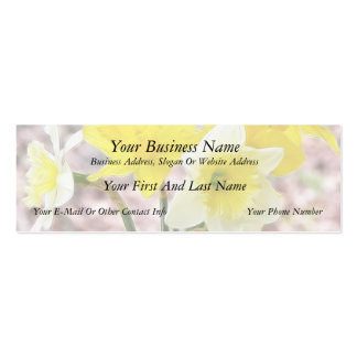 Jam Jar Vase Full Of Daffodils Double-Sided Mini Business Cards (Pack Of 20)