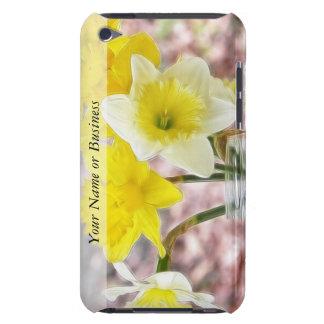 Jam Jar Vase Full Of Daffodils iPod Touch Cases