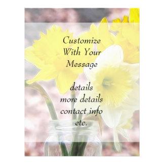 Jam Jar Vase Full Of Daffodils Flyer