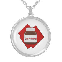 Jam of the Devil Silver Plated Necklace