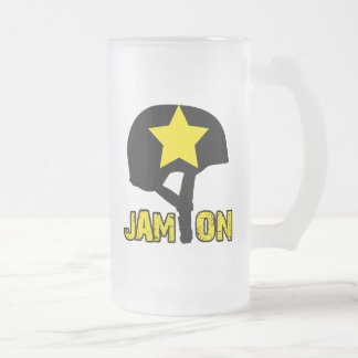 Jam On Frosted Glass Beer Mug